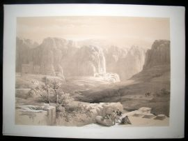 David Roberts Holy Land 1842 LG Folio. Site of Petra, Jordan. 1st Edition
